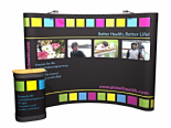 Pop-Up Exhibition Stand Packages 3x3 From £399 Curved All Sizes
